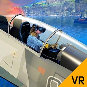 Fighter Aircraft Simulator for Virtual Reality Headsets