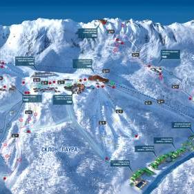 An interactive map of Gazprom Mountain Resort has been launched
