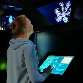 Interactive Holographic Pyramids for Primorsky Aquarium