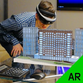 Architectural Visualization with Microsoft Hololens Augmented Reality Headsets