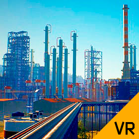 Oil Refinery Interactive 3D Model
