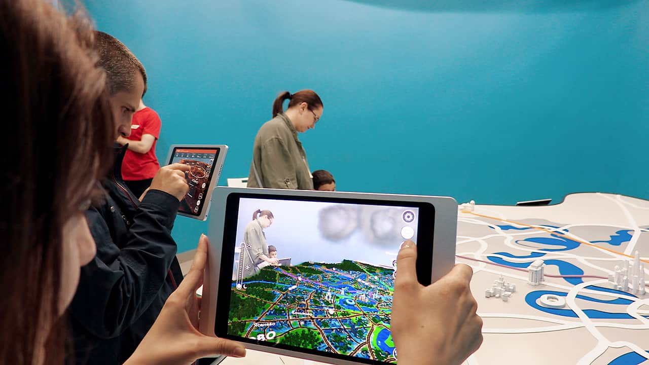 Augmented reality installation developed for MCD demonstration pavilion.