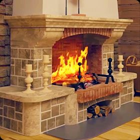 Architectural Visualization for Fireplace Promo Video